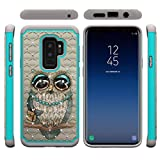 Galaxy S9 Plus Case,Hard PC Back Cover with Creative Pattern & Point Drill 2 in 1 Hybrid Case with Inner Soft TPU Bumper Slim Durable Anti-Scratch Case Compatible with Samsung Galaxy S9 Plus -Bird