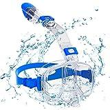 Maschera Snorkeling , Maschera Subacquea Immersione Panoramica Integrale a 180°, Supporto per fotocamera gratuito & Tappi per Orecchie , per Donne, Uomini, Adulti, Adolescenti