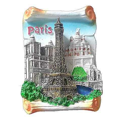 3D-Eiffelturm, Notre Dame de Paris Frankreich, Kühlschrankmagnet, Reise-Souvenir, Geschenk, Heim- und Küchendekoration, Magnetaufkleber, Paris, Kühlschrankmagnet