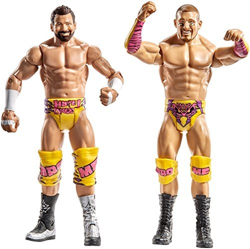 WWE - 2er Pack Basisfiguren mit Zubehör Mojo Rawley / Zack Ryder (Mattel Spain DXG42)