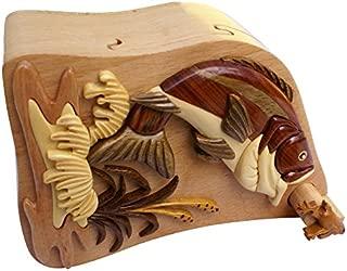 Bass and Frog Fish Handmade Keepsake Box