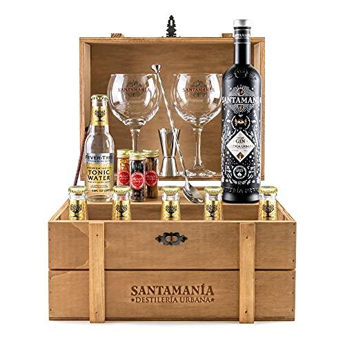 Cofre Gin Tonic Premium - SANTAMANIA Leyenda Urbana Gin