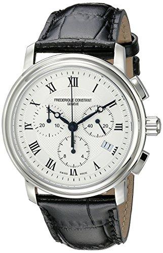 Freşque Constant Herren-Armbanduhr FC292MC4P6 Persuasion Edelstahl Chronograph mit schwarzem Lederband