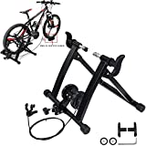 KEENAXIS Portable Bike Trainer Stand Indoor Bicycle Exercise Training 7 Levels of Resistance Magnetic Stand with Noise Reduction Wheel