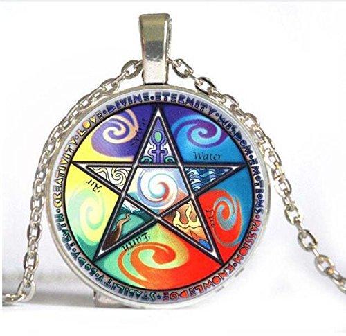 Mystic Umgedrehtes Pentagramm Halskette. satanischen Schmuck, Pentagramm Halskette, Seapunk, Holographie, pastell Goth Schmuck, geheimnisvollen Schmuck