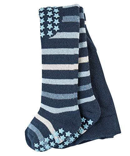 FALKE Baby Strumpfhosen Multi Stripe, 84% Baumwolle, Vollplüsch-Strumpfhose aus besonders hautfreundlicher und pflegeleichter Baumwolle, 1 Stück, Blau (Marine 6120), Größe: 80-92