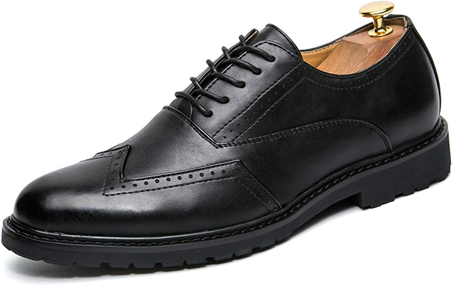 JIALUN-shoes Men's Classico Business Oxford Casual Fashion PU Leather Anti-Skid Breathable Brogue shoes