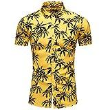 Camisas para Hombre Camisa de Manga Corta Estampada con Personalidad de Talla Grande y Hawaiana Europea y Americana XL