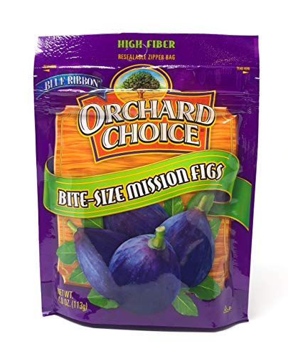 Blue Ribbon Orchard Choice Bite-Size Mission Figs, 4.0 Ounce Bags (3-Pack) - SET OF 2