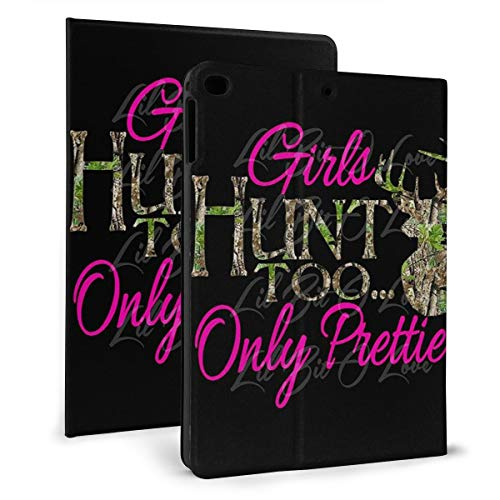 Camo and One Color Girls Hunt Deer Case for iPad Mini 4/5 7.9 inch Cover Protective Smart Trifold Stand Cover with Auto Sleep/Wake for Apple iPad Tablet