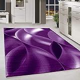 HomebyHome Alfombra Moderna Abstracta Sombra Sala de Estar Estampado Violeta Negro Blanco Moteado, Color:Violeta, tamaño:160x230 cm
