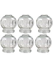 Koppande glas XXXL, ø 10 cm 6 stycken koppar för vakuummassage, ny