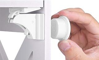 Filfeel Cerraduras gabinete Seguridad del bebé(3 Llaves + 16 cerraduras) para armarios hogar Buen Efecto magnetico