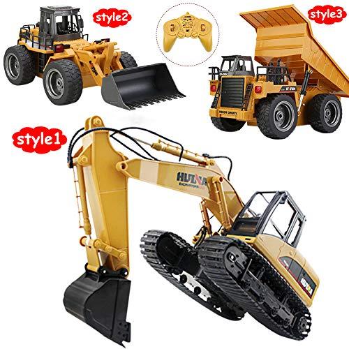 RC Auto kaufen Baufahrzeug Bild 5: omufipw 2,4 G Funksteuerung Bulldozer Frontlader Baufahrzeug Elektronisches Spielzeug RC Truck Traktor Junge Geschenk*