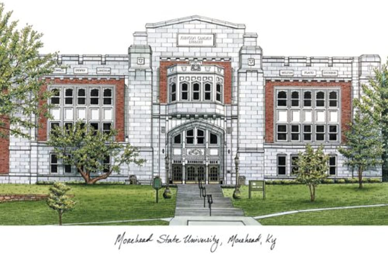 Campus Images KY985  Morehead State University  Lithographic Print