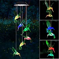 Wind Chime, Solar Hummingbird Wind Chimes Outdoor/Indoor(Gifts for mom/momgrandma Gifts/Birthday Gifts for mom) Outdoor...
