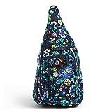 Vera Bradley Women's Signature Cotton Medium Sling Backpack, Moonlight Garden, One Size