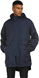 iWoo Mens Breathable Rain Jacket Waterproof with Hood Lined Windbreaker