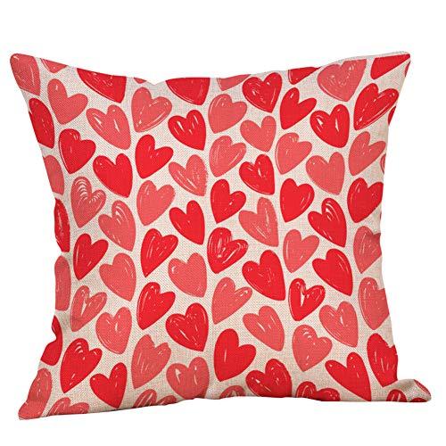 Kingwani  Funda de almohada para el día de San Valentín con patrón de sofá decoración del hogar, accesorios para el hogar Warm Sweet Shop ahora.