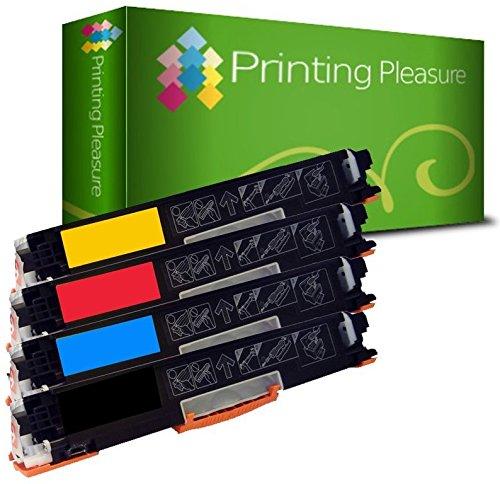 Printing Pleasure 4 Toner kompatibel zu CE310A-CE313A für HP Color Laserjet CP1025 CP1025NW CP1020 M175a M175nw Pro 100 M175 MFP M175A M175NW TopShot M275 - Schwarz/Cyan/Magenta/Gelb, hohe Kapazität