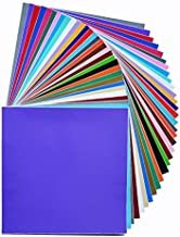 Permanent Adhesive Backed Vinyl Sheets by HCS | Printable | Assorted Colors and Finishes | Works with Cricut and Other Craft Cutters | 60 Sheets 12