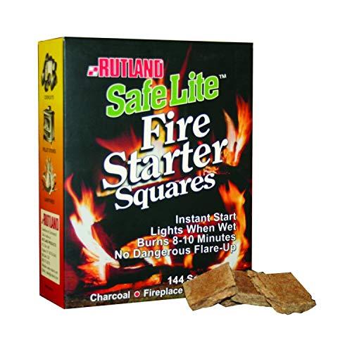Rutland Safe Lite Fire Starters - 144 Squares