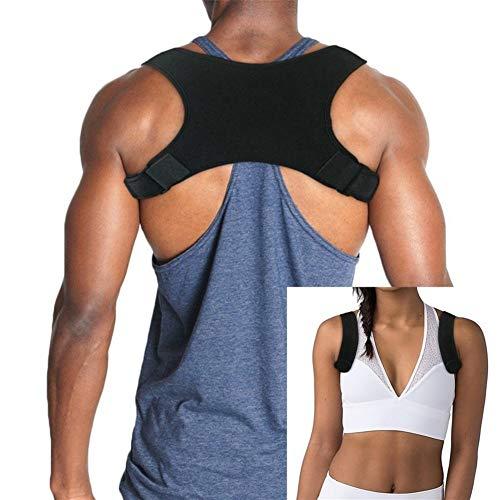 AleXanDer1 Support Dorsal Ceinture Noire Unisexe Gilet Retour correcte Corset Posture Lisseur (Color : Black, Size : One Size)