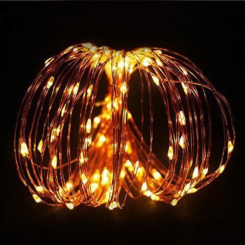 LED Cadena Luces, 2 Piezas 10 M 100 LED Guirnaldas Luminosas con Control Remoto, Fulighture Decorativas Guirnaldas Luminosas, para Exterior,Interior, Jardines, Casas, Boda, Fiesta de Navidad