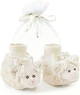 Bearington Baby Soft Plush Stuffed Animal Sock Top Slipper Booties (3-9 Months)