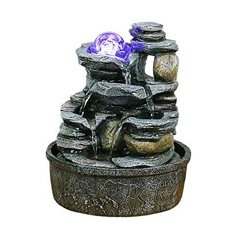 HQZ Tisch-Brunnen Springbrunnen, dekorativer Tischbrunnen für das Büro zu Hause-Harz-H: 20,5 · 20,5 · 25 cm