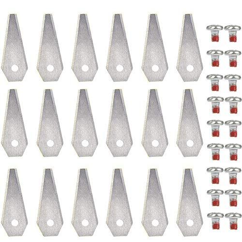 18Stück Ersatzmesser mähroboter automower - Rasenmäher Klingen Messer 50x18x1mm Titansbeschichtung Edelstahl Grasmäher Ersatzklingen für Bosch Indego (800,1000,1200,350,400,450,Connect)