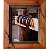 My Barnwood Frames - Sagebrush Series Western Wood Picture Frame with Barbed Wire Accents (16x20 Inch)