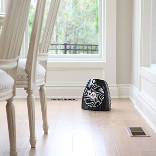 Vornado MVH Vortex Heater with 3 Heat Settings, Adjustable Thermostat, Tip-Over Protection, Auto Safety Shut-Off System, Whole Room, Black
