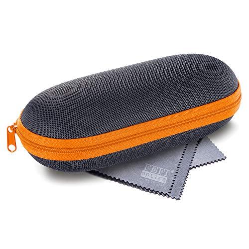 FEFI - Leichtes Hardcase Brillenetui - Sport- und Sonnenbrillen Etui (orange)