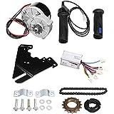 YCX 20-28 Zoll Elektro Fahrrad Für 24V 250W Elektro Fahrrad Motor Umbausatz, Elektro Fahrrad Naben Motor Controller,Schwarz