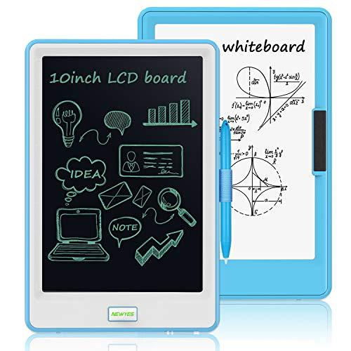 NEWYES 10  Tableta de Escritura LCD - Tablets de Dibujo con Pantalla LCD, Ideal nios como Pizarra Digital para Aprender a Leer y Escribir (Celeste)