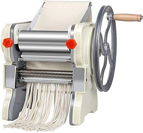 WZLJW Pasta máquina del Fabricante, Manual de máquina de los tallarines del hogar Masa Prensa de Planchar Manual Comercial de la máquina de Corte Fresco (Color: Plata, Tamaño: 32.1x30x27.5cm) DCZKS