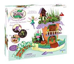 The charming fairy cottage is a flowerpot that the fairy Isla moved into and made her home! Use the included soil and seeds to grow a real garden on top and along the bottom! Or leave the bottom area Open and add water to make a peaceful stream! Exce...