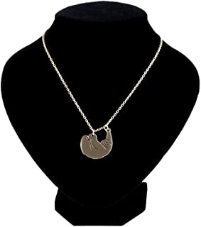 Happy New Year & Christmas Decorations M and F 1PC 1 Pcs Fashion Sloth Pendant Necklaces for Women Gold Color Chain Animal Chokers Necklace Jewelry Nice Gift for Friends