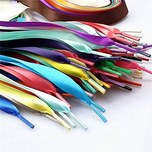 Egurs 28pair Multi kleuren schoenveters 110cm satijn plat lint schoen veters schoenen snaren, 2cm breed