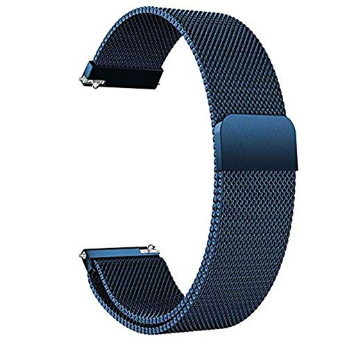 SRKL Correa 20mm 22mm Correa de Color Milan para Reloj Deportivo Galaxy Watch 42mm 46mm Pulsera Active Band Active 2 44mm Azul