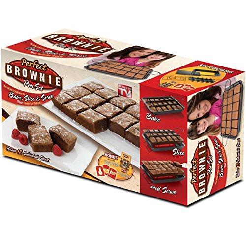 Allstar Marketing Group Pb011106 Perfect Brownie Pan Set As Seen On Tv