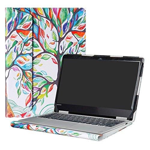 Alapmk Diseñado Especialmente La Funda Protectora de Cuero de PU Para 12.5' Lenovo Yoga 720 12 720-12IKB Ordenador portátil,Love Tree
