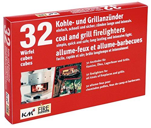 KM Firemaker 12 Stück à 32 Anzünder für Grill, Kamin und Kohle aus Kerosin Art. 200