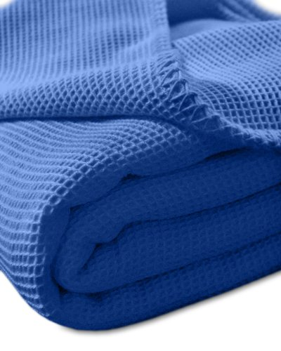 Pique-Decke mit Zierstich-Einfassung, 210x150 cm