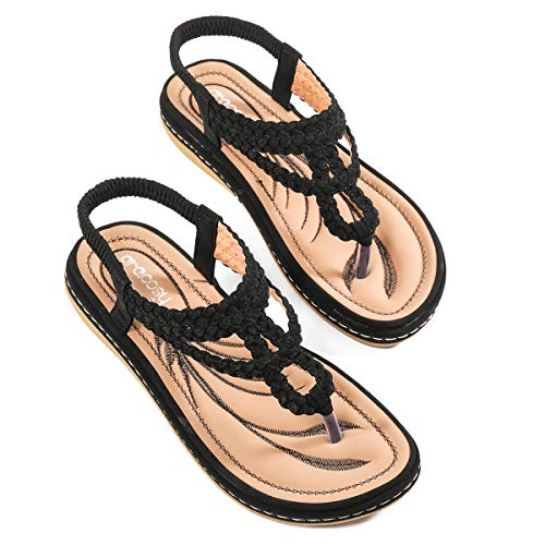 gracosy Sandalias Planas Verano Mujer Estilo Bohemia Zapatos para Mujer de Dedo...