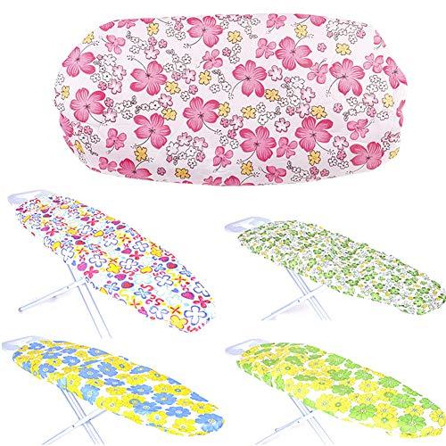 SYN - 1 funda de tabla de planchar de repuesto, ligera, reutilizable, lavable, resistente al calor, práctica, duradera, exquisita impresión floral gruesa, borde elástico, Random Color, Tamaño libre