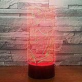 Lámpara de mesa 3D ilusión 3D 7 colores táctil (mando a distancia) cambio de coche para bebé dormitorio decoración infantil niña (mando a distancia) @ mando a distancia táctil