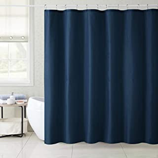 XXT Shower Curtain 72 x 72 Inch, Solid Color Waterproof Quick Drying Polyester Fabric Bath Curtain with Reinforced Top Holes and 12 Hooks