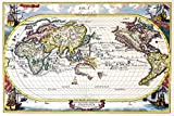 Poster Foundry Ancient Latin Navigational World Map Navigationes Europaerum European Trade Shipping Routes Old Cartographic Stretched Canvas Art Wall Decor 16x24
